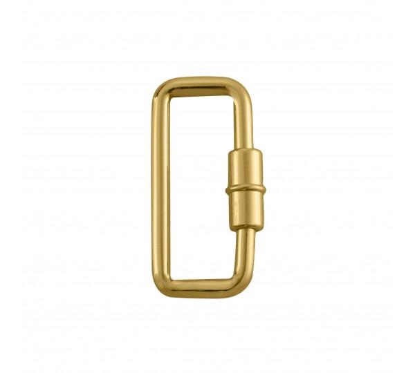 Mosquetão Retangular Ouro 36mm