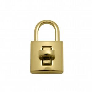 Fecho Cadeado Ouro 40mm para Bolsa