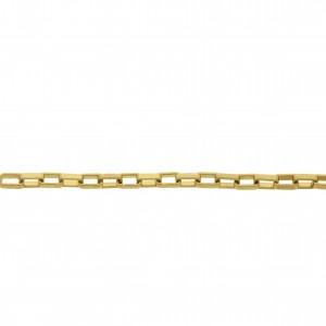 Corrente Quadrada Ouro 3mm de Espessura com Elo de 54mm