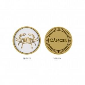 Passador Redondo Ouro Câncer 16mm