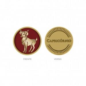 Passador Redondo Ouro Capricórnio 16mm