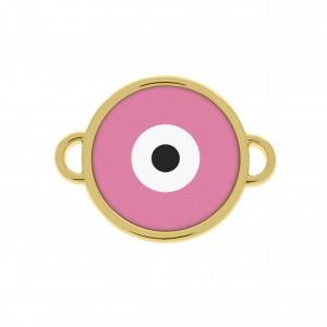 Pingente Redondo Ouro Olho Grego 20mm