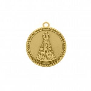 Pingente Redondo Ouro Nossa Senhora 34mm