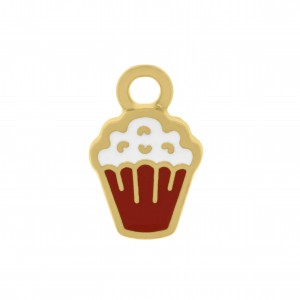 Pingente Ouro Cupcake 13mm