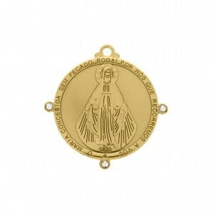 Pingente Redondo Ouro Nossa Senhora da Graça 47mm