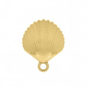 Base para Brinco Concha Texturizada Ouro 19mm