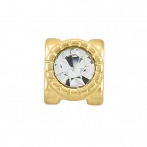 Passador Ouro com Cristal 9mm