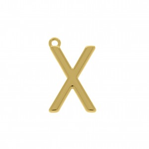 Pingente Ouro Letra X 28mm