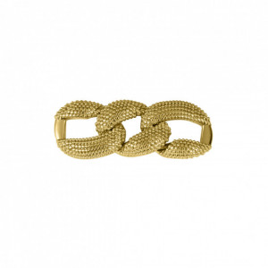 Bridão Elos Texturizados Ouro 62mm