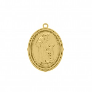 Pingente Ouro São Francisco de Assis 39mm