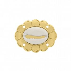 Pingente Ouro Búzio 40mm