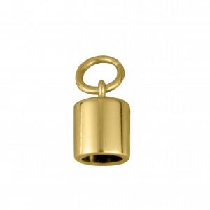 Ponteira Redonda Ouro 15mm