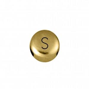 Passador Redondo Letra S Ouro 8mm