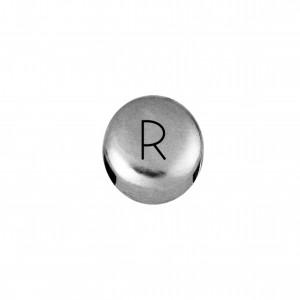 Passador Redondo Letra R Níquel 8mm