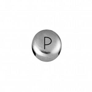 Passador Redondo Letra P Níquel 8mm