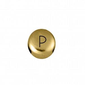 Passador Redondo Letra P Ouro 8mm