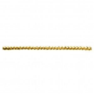 Tira Redonda de Couro Sintético Estonado Amarelo 5mm