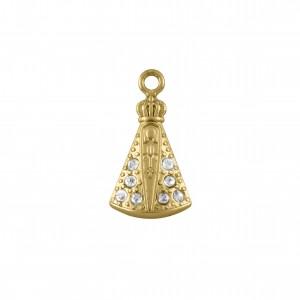 Pingente Ouro Nossa Senhora 22mm