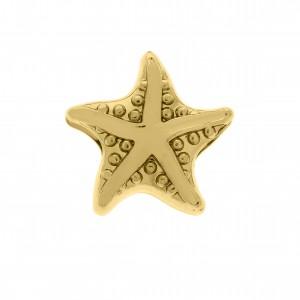 Berloque Estrela do Mar Ouro 12mm