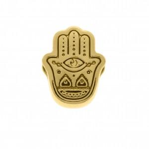 Berloque Mão de Fátima Ouro 12mm