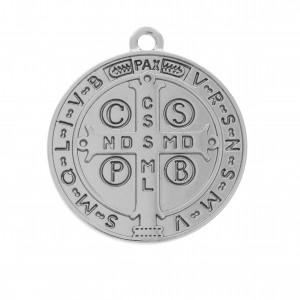 Pingente Medalha São Bento Níquel 29mm