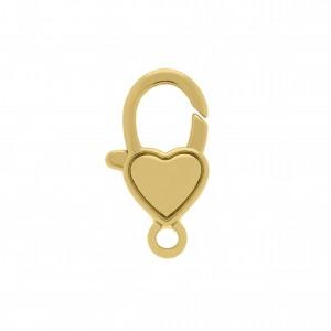 Mosquetão Coração Ouro 22mm