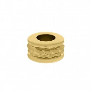 Berloque Redondo Ouro Texturizado 9,5mm