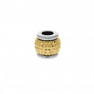 Passador Redondo Níquel aplique Ouro 11mm
