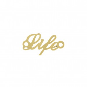 Pingente Ouro Life 25mm