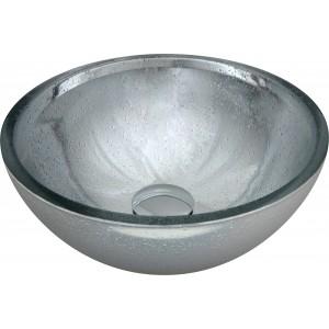 Cuba de sobrepor de vidro Prata 30cm