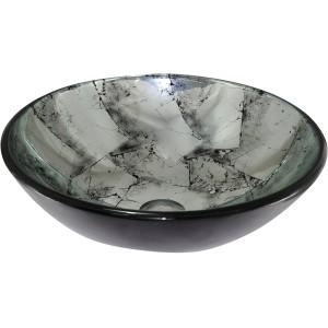 Cuba de sobrepor de vidro Prata 42cm