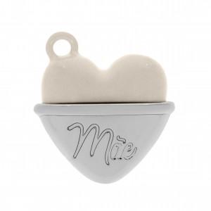 Pingente Coração de Mãe Niquel 2mm