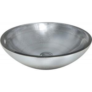 Cuba de sobrepor de vidro Prata 40cm
