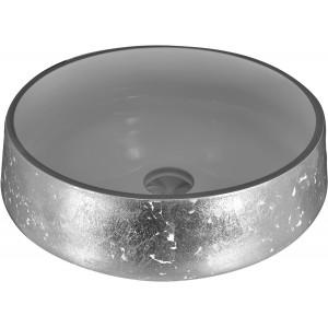 Cuba de sobrepor de vidro Branca 38cm
