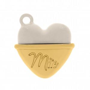 Pingente Coração de Mãe Ouro 2mm