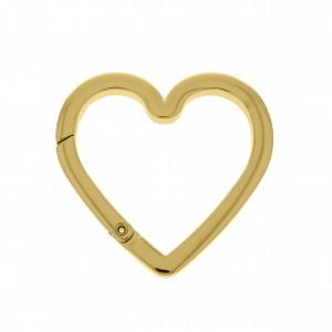 Mosquetão Coração Ouro 63mm