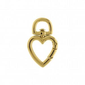 Mosquetão Coração Ouro 54mm