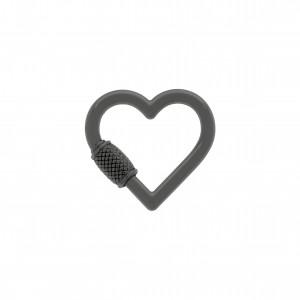 Chaveiro Coração Grafite 29mm
