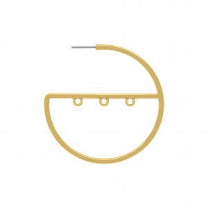 Base para Brinco Argola Ouro 50 mm