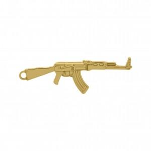 Pingente Arma Ouro 63mm