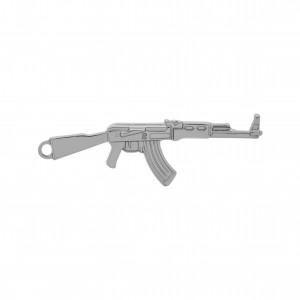 Pingente Arma Níquel 63mm
