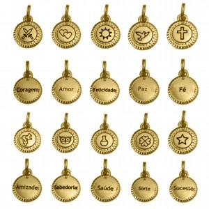 Conjunto Pingentes da Sorte Ouro