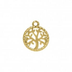 Pingente Medalha Árvore da Vida 18mm