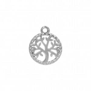 Pingente Medalha Árvore da Vida Níquel 18mm