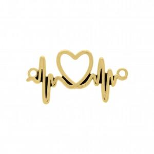 Passa Tira Coração Ouro 40mm