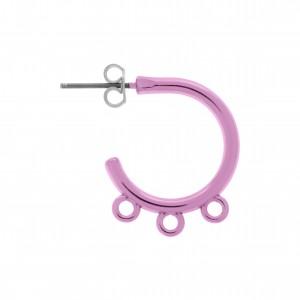 Base para Brinco Argola Pink Gloss 23mm