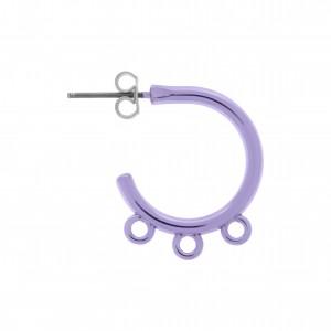 Base para Brinco Argola Violet Gloss Metalizado 23mm
