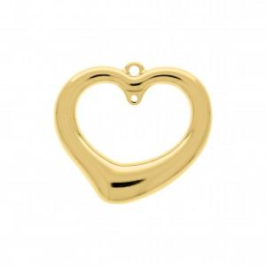 Pingente Coração Ouro com Argola 44mm