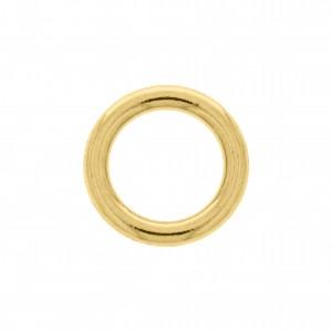 Argola de Montagem Redonda Injetada Ouro 15mm