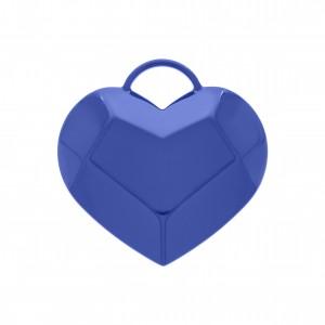 Pingente Coração com Pintura Azul Bic 56mm